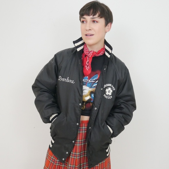 Darlene's Vintage Soccer Varsity Puffer Jacket